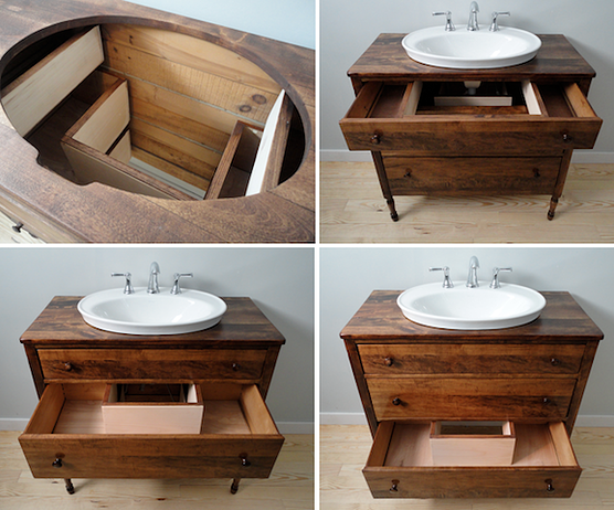 Vermont Vanities Bathroom Vanity Restored Vintage Alte Schranke Waschbecken Badezimmer Waschbecken