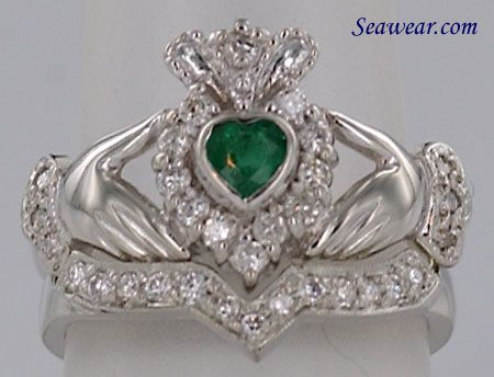 Wedding Band Elizabethan Wedding Pinterest Claddagh Ring and