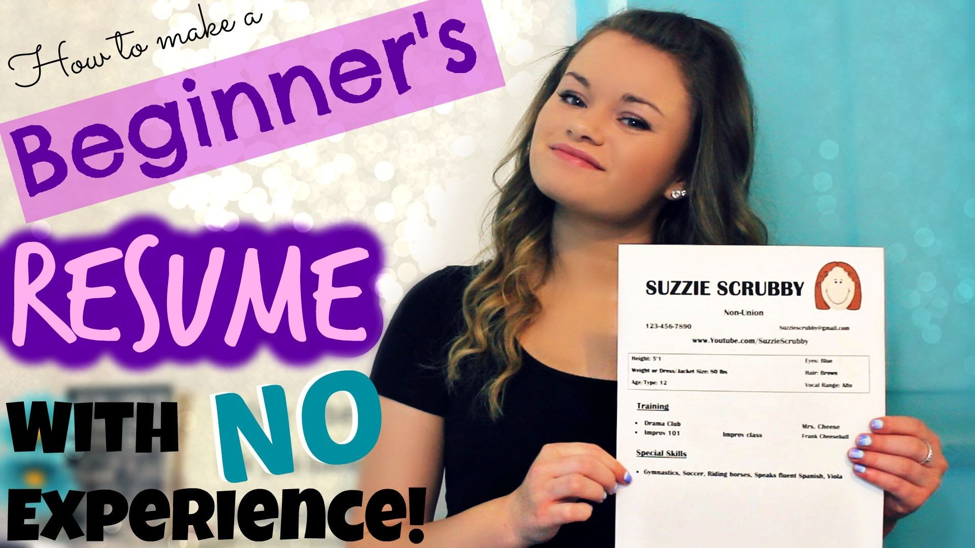 How To Make A Beginner S Acting Resume W No Experience Acting Resume Template Acting Resume Dance Resume Acting resume template no experience