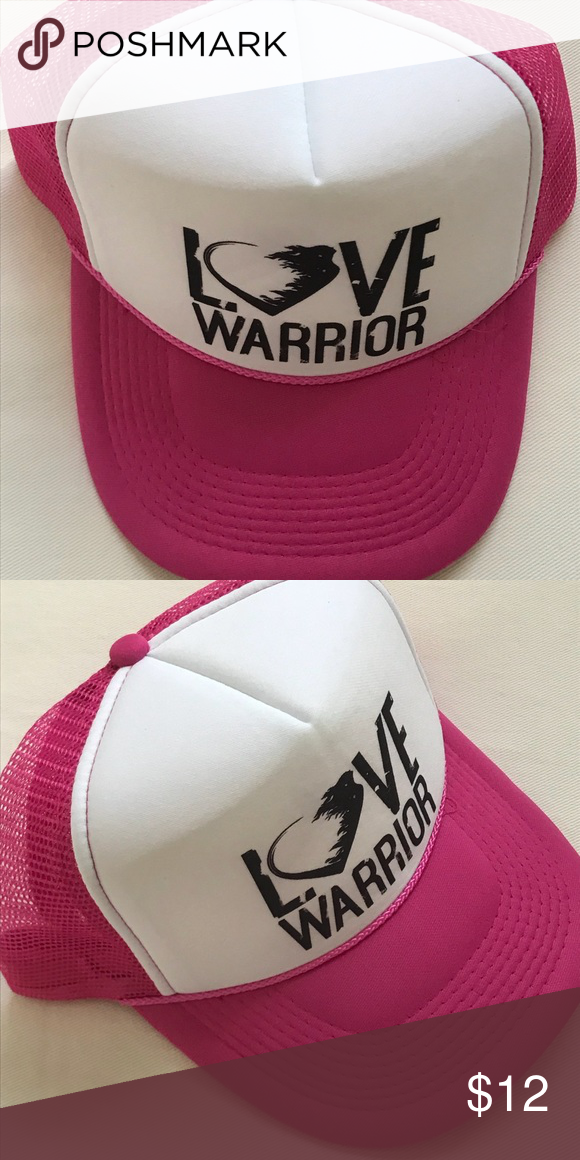 27b6afc7d3a6f Love Warrior trucker hat Adorable hot pink Love Warrior trucker hat. From  the Glennon Doyle Love Warrior online shop. Worn once and just doesn t suit  me.