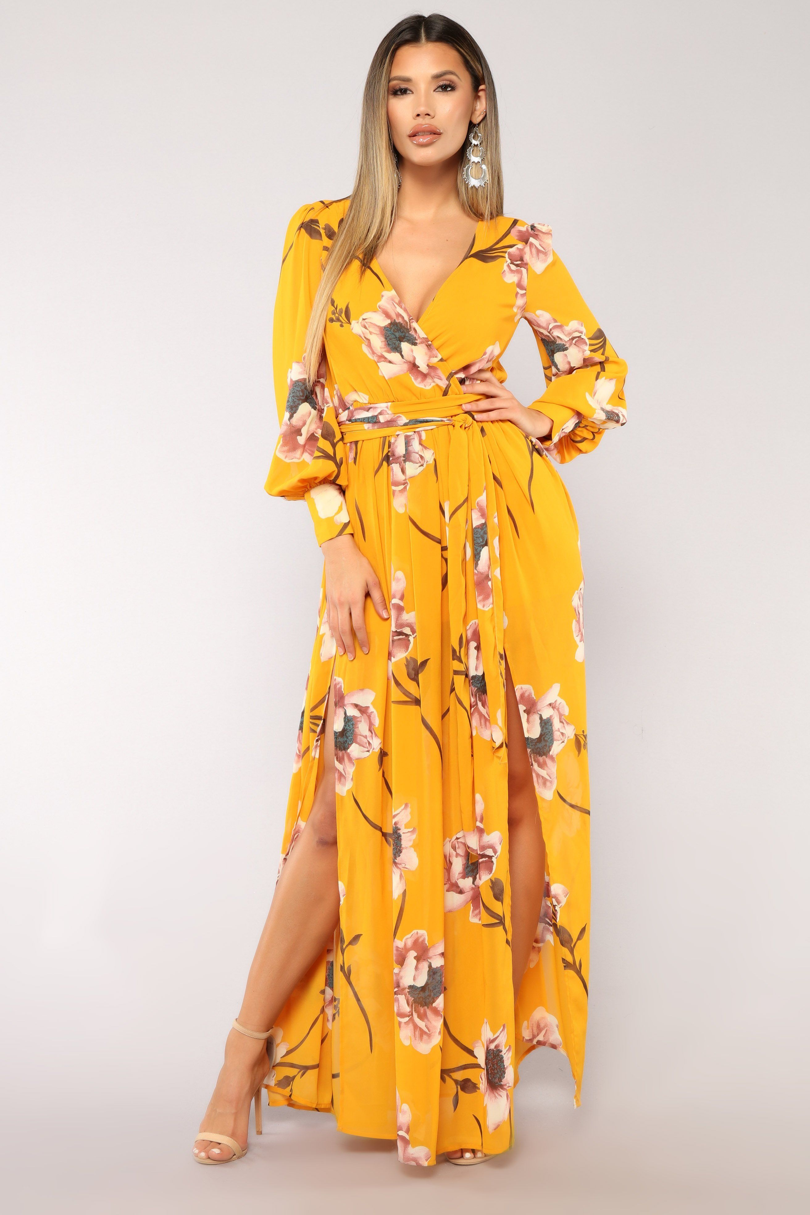 e606899202f Park Avenue Maxi Dress - Mustard Blush