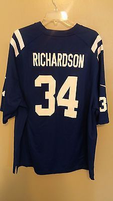 NIKE INDIANAPOLIS COLTS TRENT RICHARDSON FOOTBALL JERSEY SIZE 2XL ADULT 2acb642b1