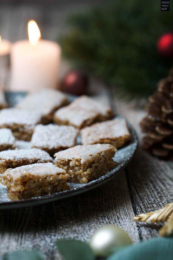 Lebkuchen vom Blech mit Zuckerguss #desserts