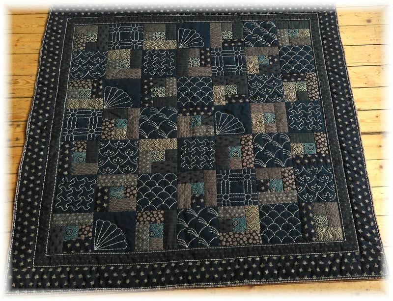 Sashiko Quilting Patterns : Sashiko patchwork quilt Sashiko and Indigo Pinterest More Patchwork ideas