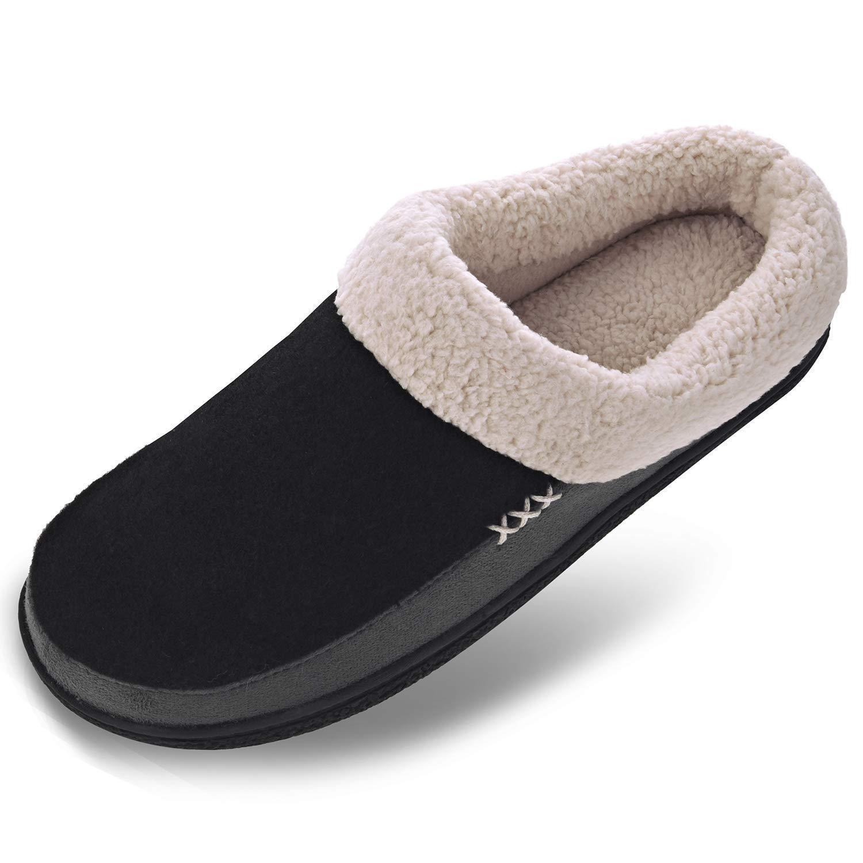 48419a4bffe4b2 VONMAY Men's Wool Plush Fleece Lined Slip on Memory Foam Clog House Slippers  Indoor/Outdoor