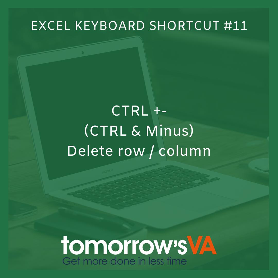 Microsoft Excel Keyboard Shortcut 11 Control