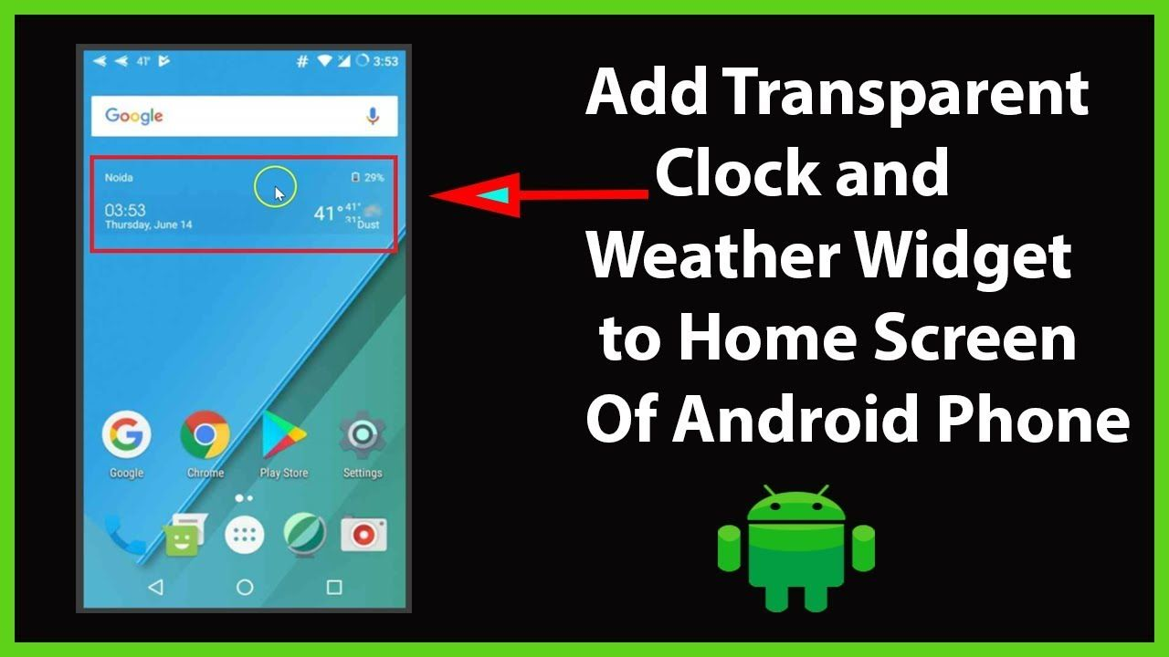 How to Add Transparent Clock & Weather Widget to Home