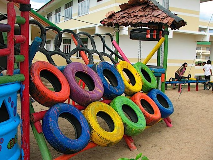 The car tire climber outdoor pinterest climbers for Tire play structure