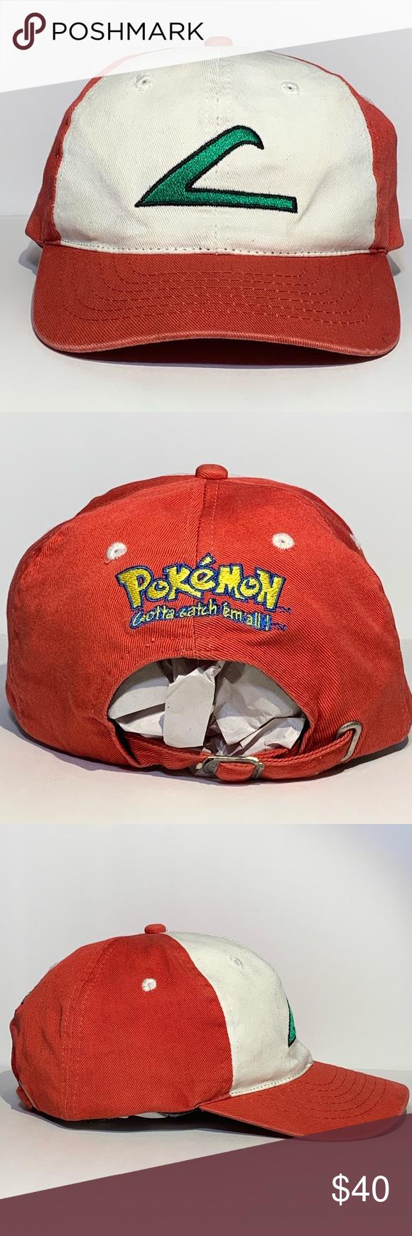 Vintage 90 S Ash Ketchum Pokemon Baseball Cap Baseball Cap Pokemon Cap