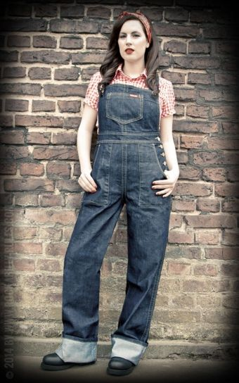 Rumble59 - Ladies Denim - Latzhose/ Playsuit | Latzhosen und ...