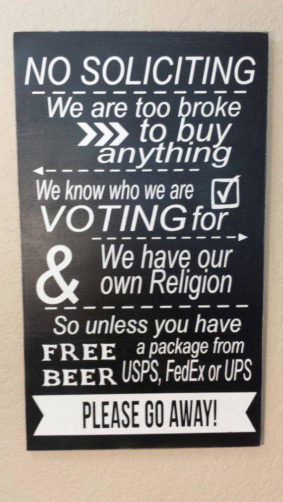 No Soliciting Sign, No Solicitation Wood Sign, Funny No Soliciting Sign, No Soliciting Door Sign #nosolicitingsignfunny