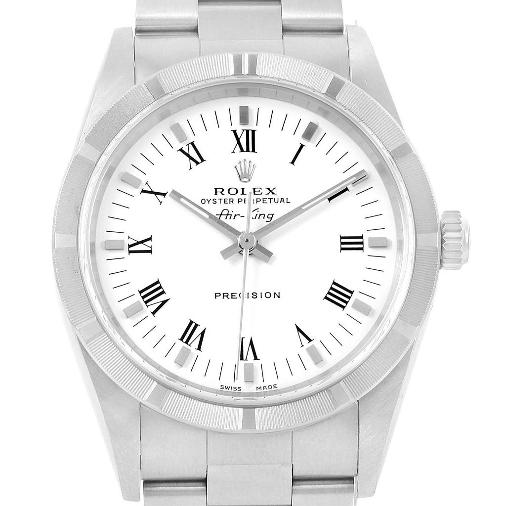 Rolex Air King White Dial Oyster Bracelet Automatic Watch