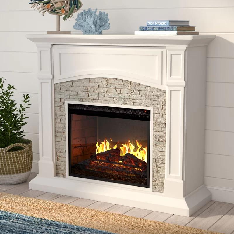 Alcott Hill Shanley Electric Fireplace Reviews Wayfair