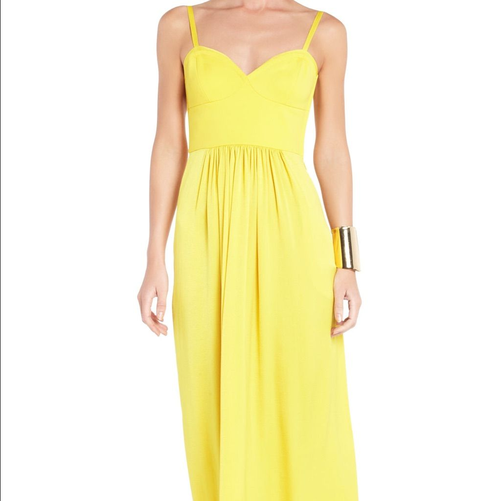 Bcbg yellow maxi dress yellow maxi dress and products
