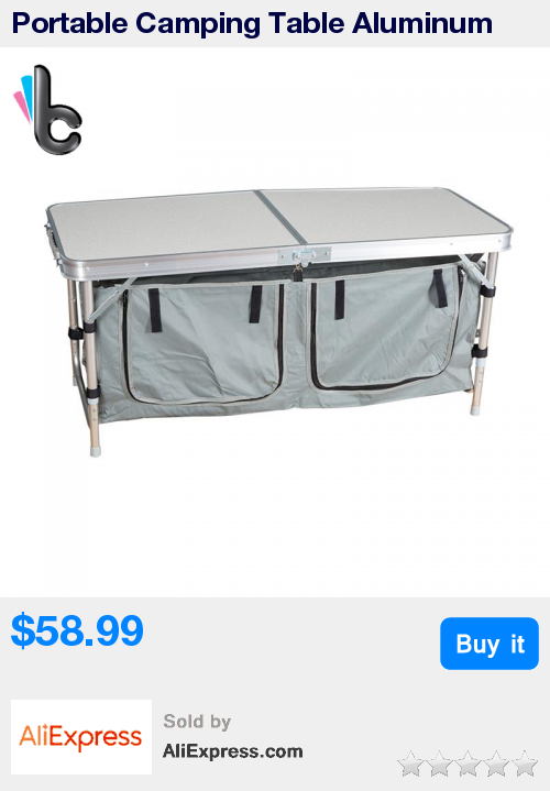 Portable Camping Table Aluminum Folding Indoor Outdoor Picnic Camping Table  With Storage Bag * Pub Date