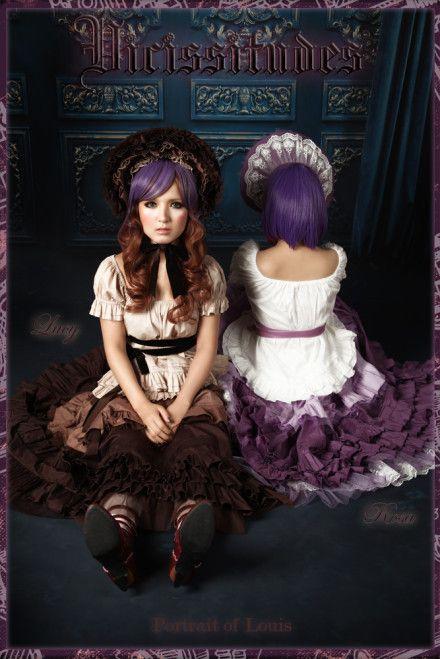 Classical Puppets Victorian Lavender Lolita Underskirt Petticoat 4 Pieces