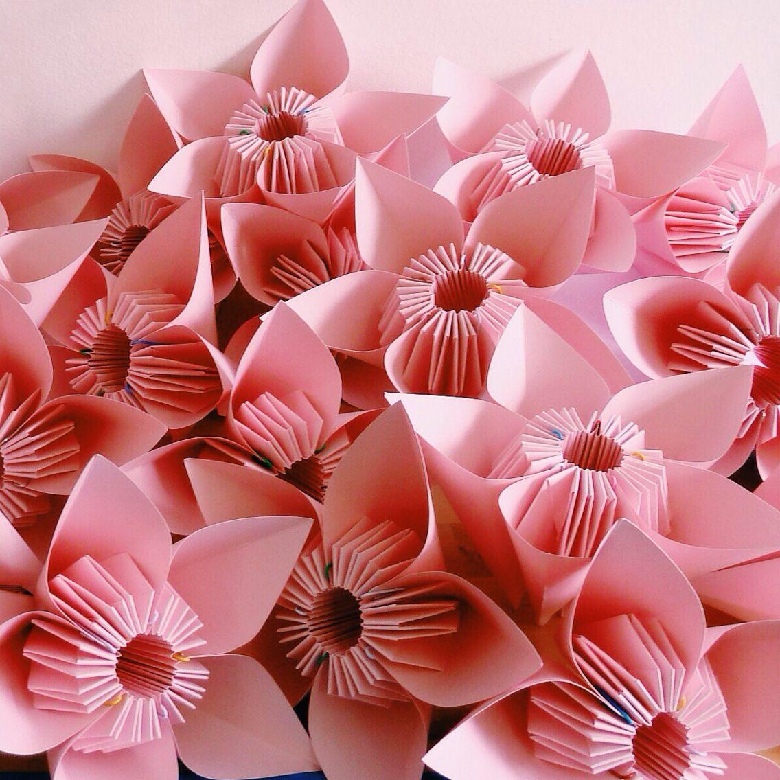 it's a heart heart season: Origami Cherry Blossoms   1136x1136