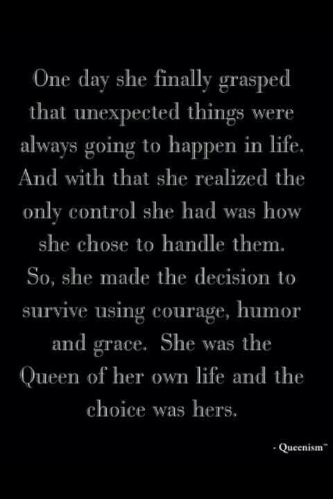 So true! You can't control what others do