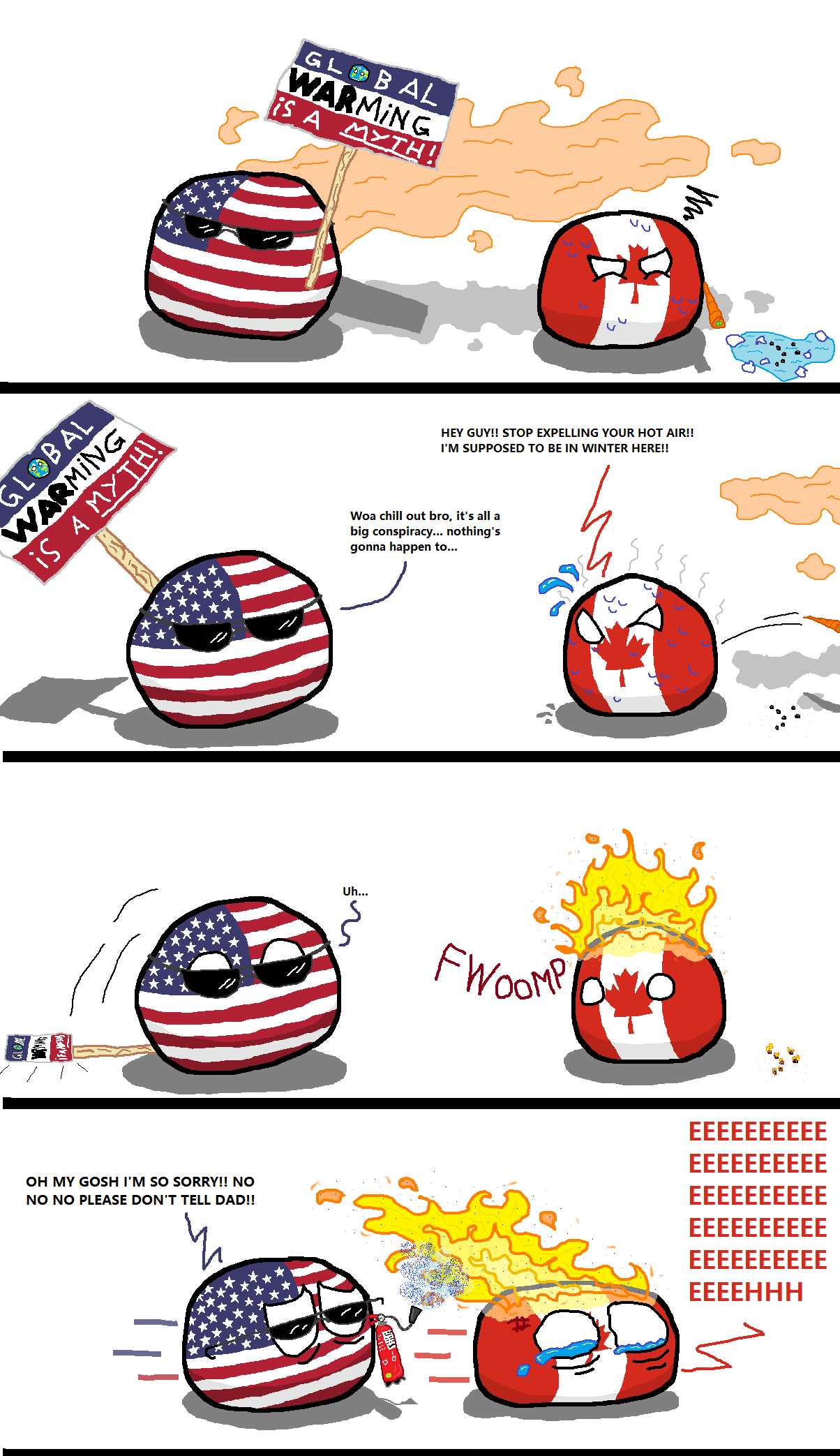 That S So True Though Global Warming Is A Real Thing And We Have To Step Up And Stop It Canada Memes Funny Pictures Funny Comics