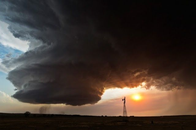 Supercells are the rarest and most dangerous type of storms. While they are formed just like other storms, the vertical rotation of their updraft means that they can sustain themselves for far longer.