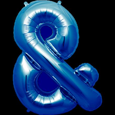 Folienballon Zeichen Blau 40 Cm Sonderzeichen Folie Luftballons