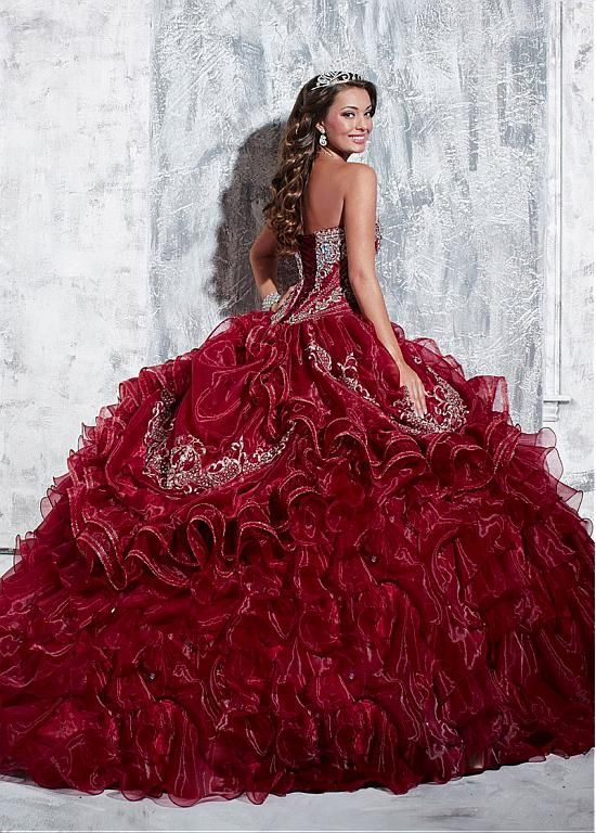 Charming Organza Sweetheart Neckline Floor-length Ball Gown Quinceanera Dress