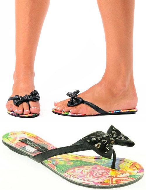 Iron fist flip flops