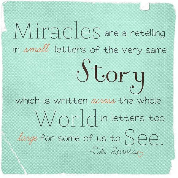 Miracles Cs Lewis Quotes Inspirational Words Cool Words