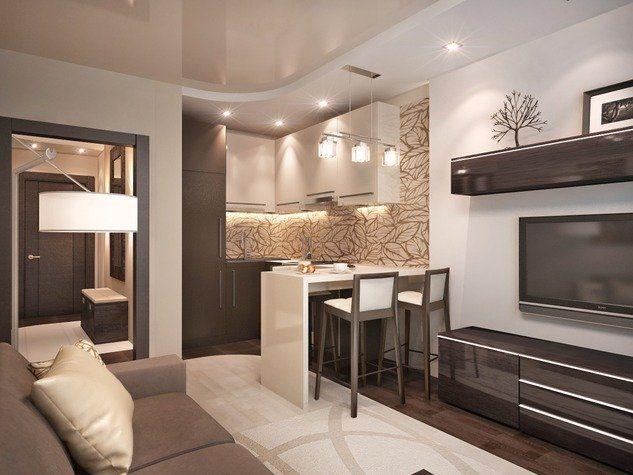 Дизайн кухни-студии 18 кв м (35 фото) – используем ...