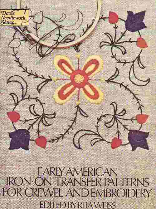 Vintage Early American Iron On Transfer Patterns For Crewel And