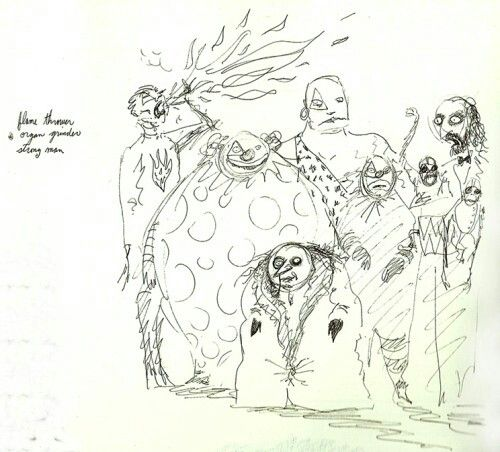 Batman Returns Tim Burton Concept Art For The Penguin And The Red