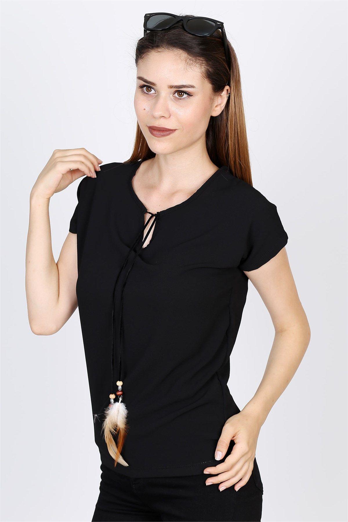 Yakasi Ipli Bluz 2032b Moda Stilleri Bluz Giyim