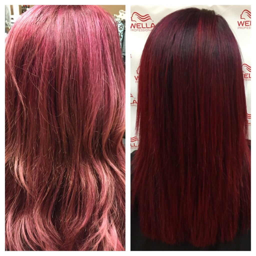Refreshed Color Using Rusk Merlot And Pravana Red By Keegan Of