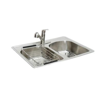 glacier bay all in one top mount stainless steel 33 in 2 - Glacier Bay Kitchen Sink