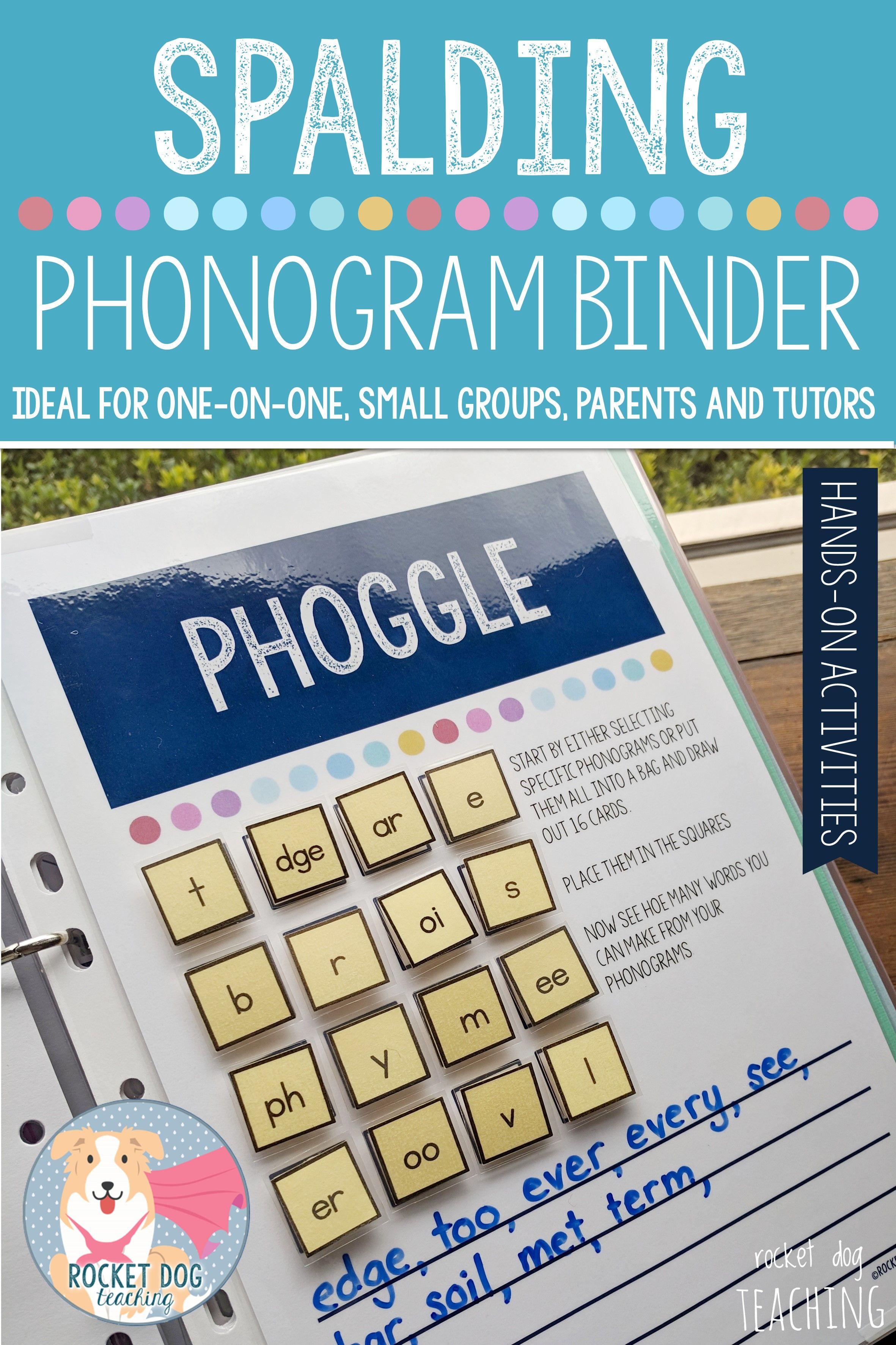 Phonogram Activity Binder For One On One Small Groups Parents And Tutors Spelling Games For Kids Phonograms Kindergarten Spelling Words [ 3543 x 2362 Pixel ]