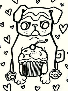 Pug Coloring Pages Pugs Coloring Pages Pug Illustration