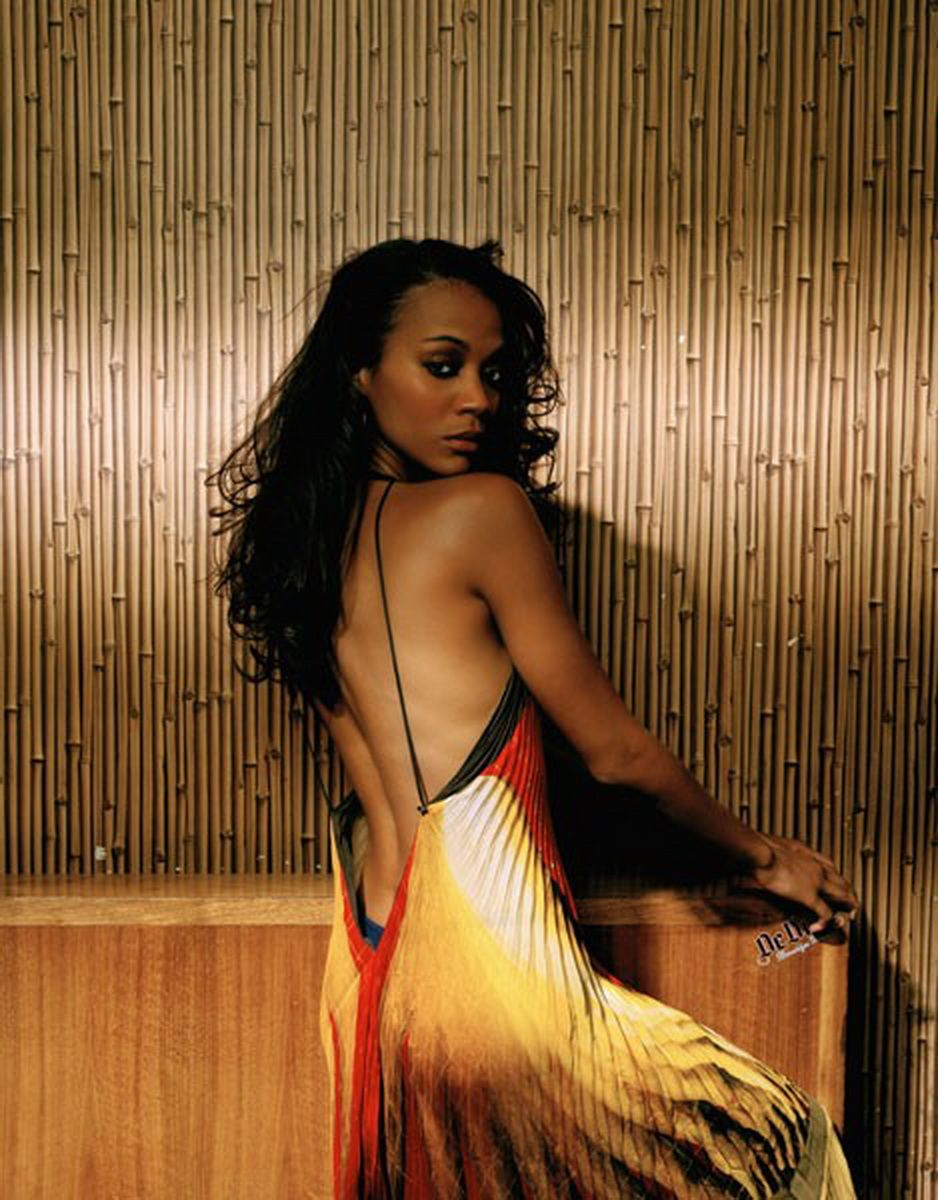 zoe saldana hot | zoe saldana see through dress nipple visible | zoe
