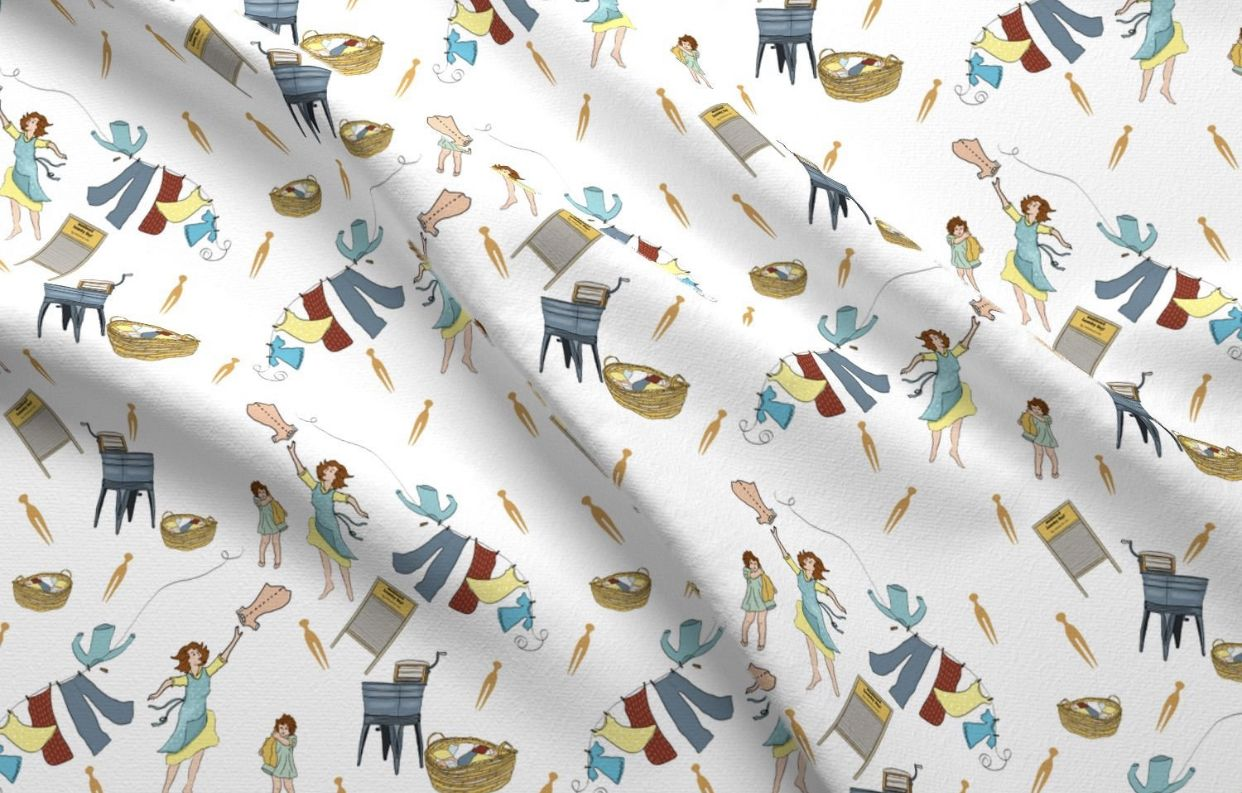 Https Etsy Me 2ucubig Love This Fabric Vintage Laundry Laundry Room Fabric