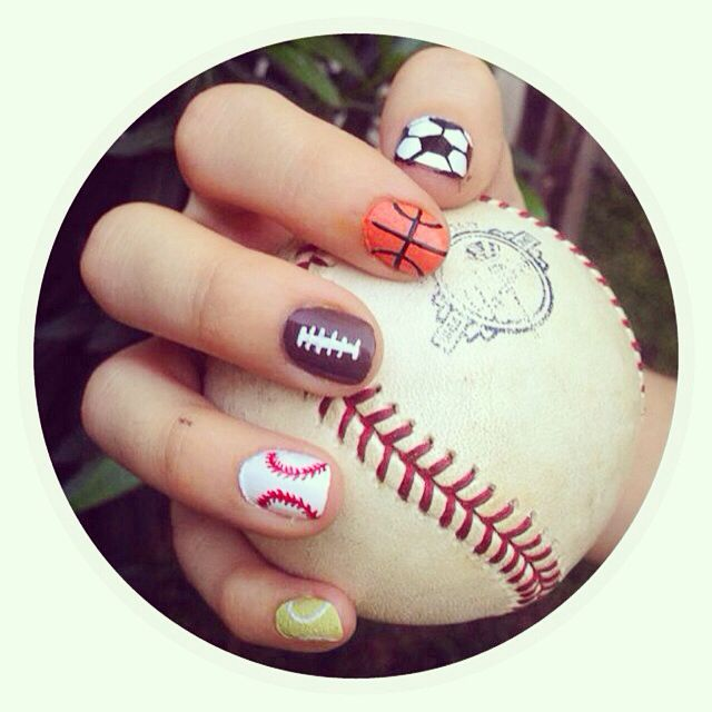 Sports nails. Choose your favorite one! Nail design, fun and creative.