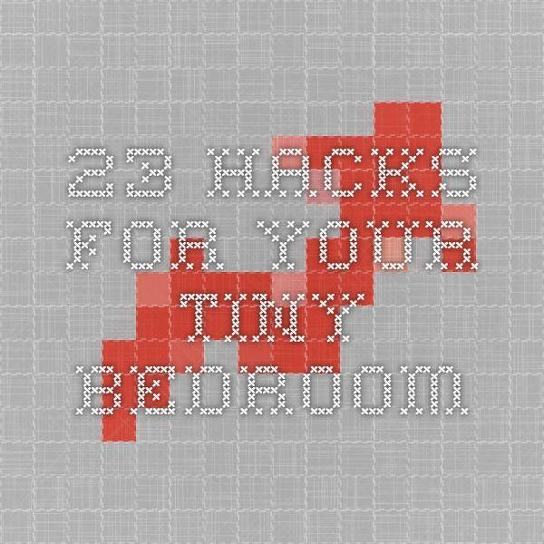 23 Hacks For Your Tiny Bedroom   Bedroom, Hacks, Scottish ...
