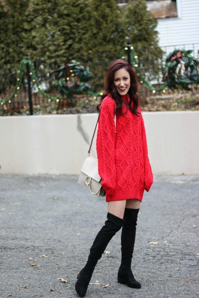 Sweater Dress Oversized Dresses Outfit With Boots Trend To Try