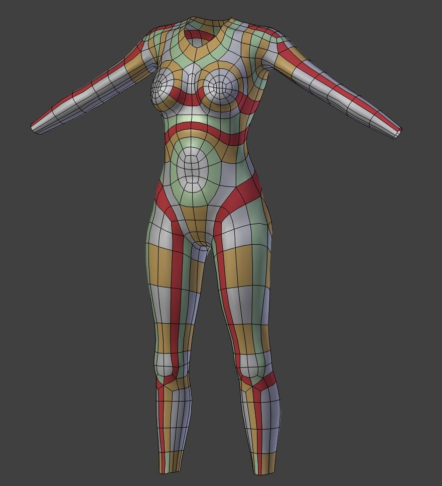 Female Character Modeling In Blender Part 4 : Pin by andrew klin on topology pinterest female bodies