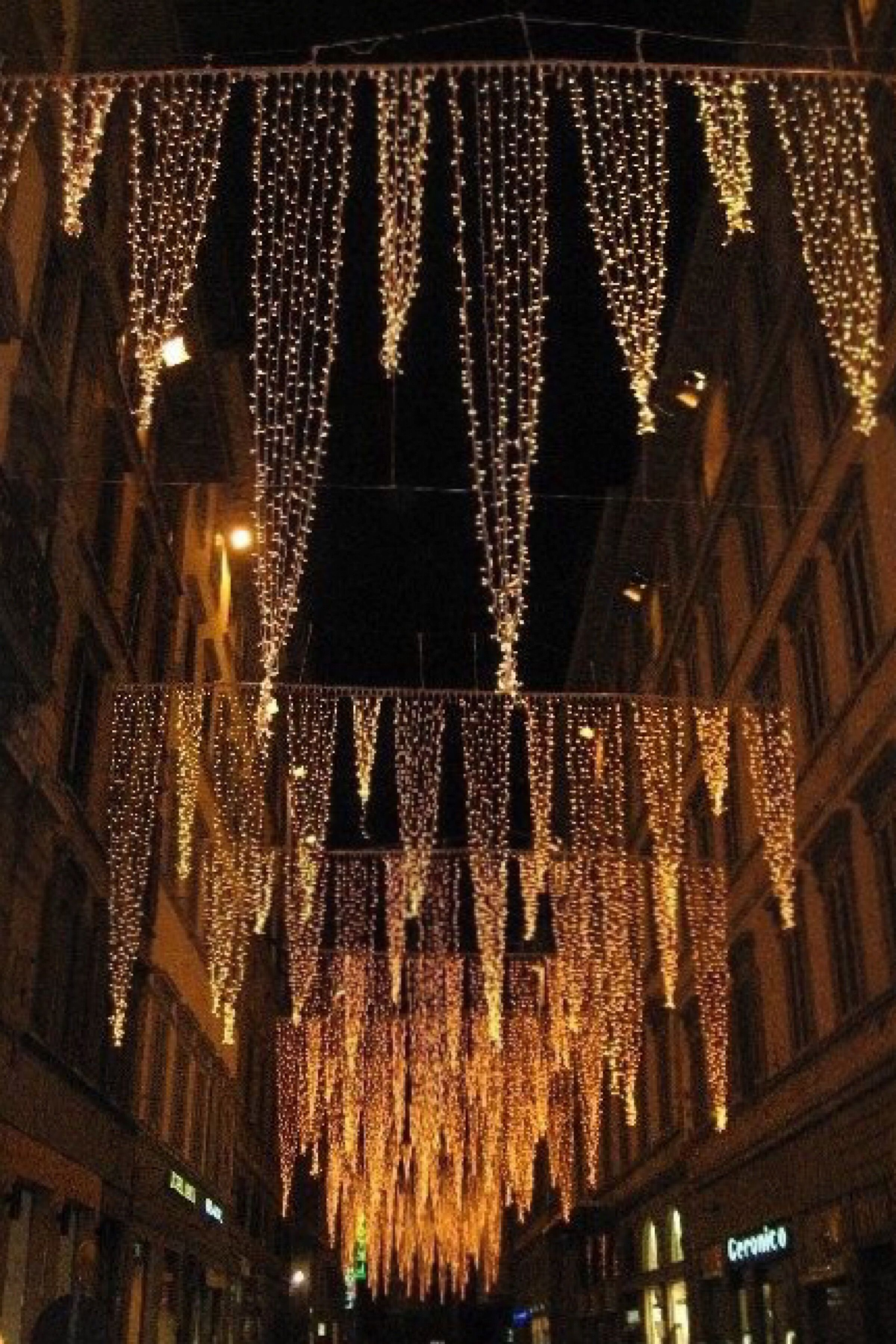 outdoor xmas lighting. Xmas Lighting Outdoor. Christmas Lights Adorn The Streets In Florence Outdoor