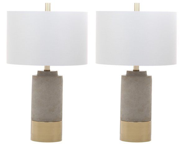 S 2 Welbon Table Lamps Gray Gold Grey Table Lamps Table Lamp Sets Brown Table Lamps