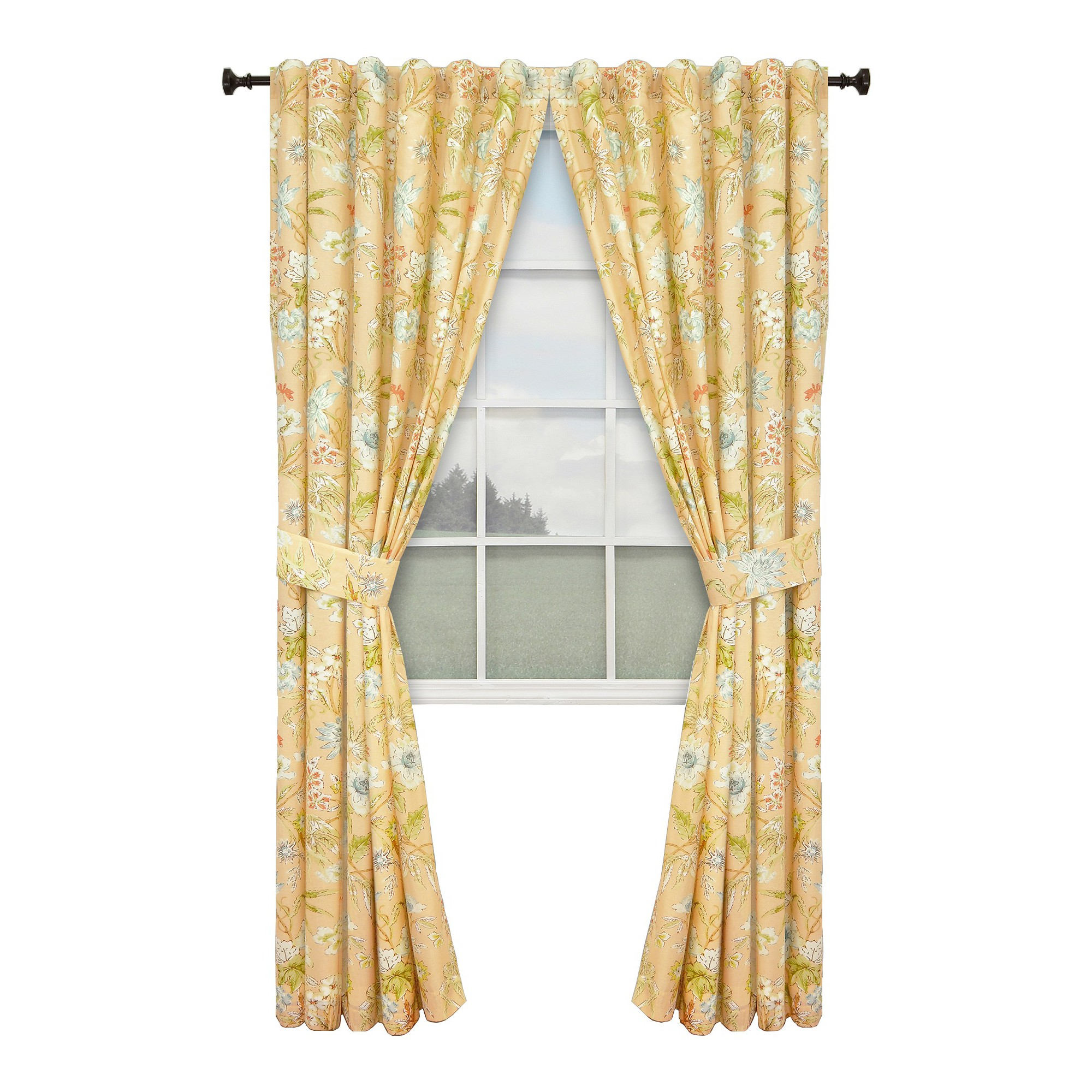 Waverly Cape Coral Lined Curtain Panel Pair Coral 100 X84