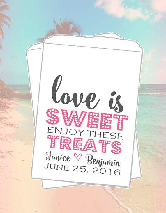 Love is Sweet, Wedding Candy Bags, Wedding Favor Bag, Candy Buffet Bags, Wedding Candy Bar Bag, Wedding Favor Bags, Custom Favor Bags, SKW61