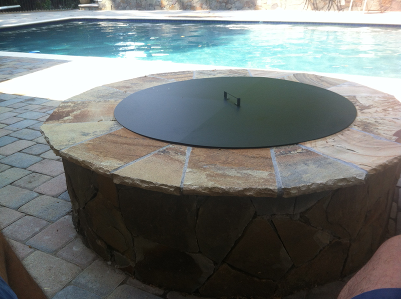 Pittopper One Piece Metal Fire Pit Cover Round Fire Pit Cover