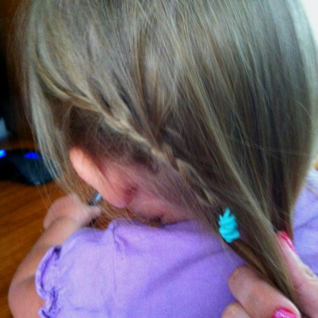 (® unless you know this baby do not repin her) Small single side french braid on a not yet two year old gives style and simplicity!!