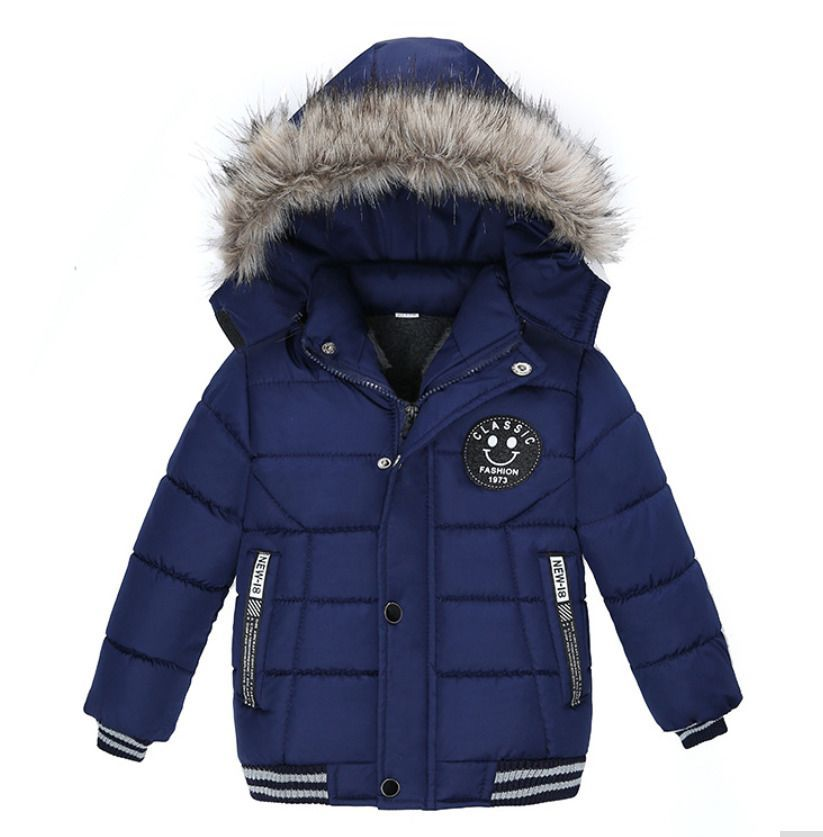 a47913967b32 Kids winter coat hooded fur jacket for boys and girls warm outerwear ...