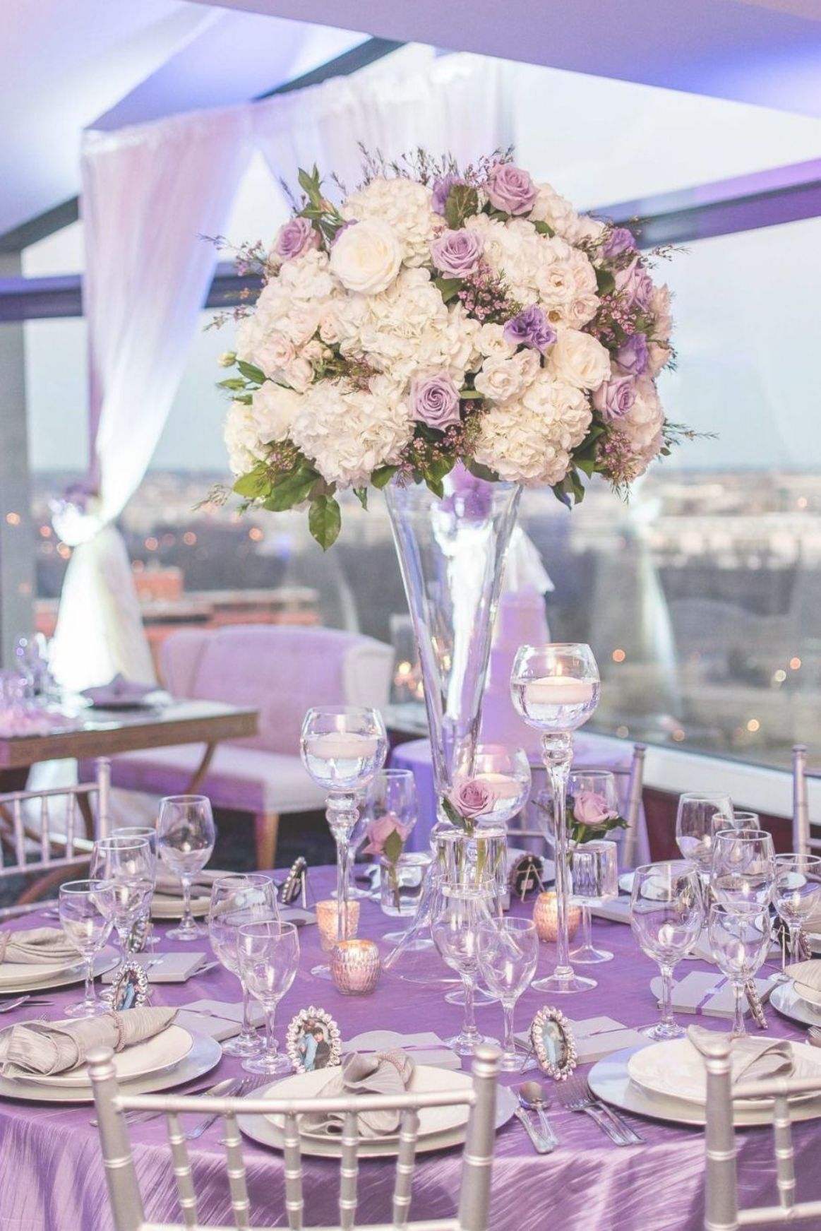 Gallery A Heartfelt Purple And Silver Wedding That Might Make